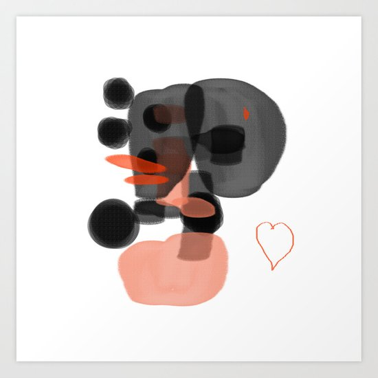 black and orange Art Print
