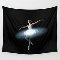 dancer Wall Tapestries featuring Galactic dancer by Tony Vazquez