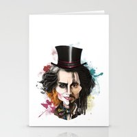 johnny depp Stationery Cards featuring Johnny Depp by Owen Ballesteros
