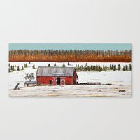 john snow Canvas Prints featuring First Snow by John Wisker