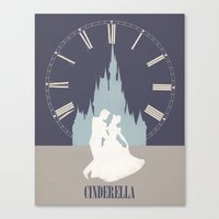 cinderella Canvas Prints featuring Cinderella by magicblood