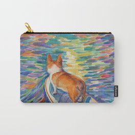 Corgi - sunset surfer Carry-All Pouch