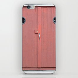 Red Port Hole Door iPhone Skin