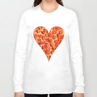 pizza Long Sleeve T-shirts featuring PIZZA by Good Sense