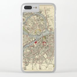 Map of St. Petersburg 1883 Clear iPhone Case