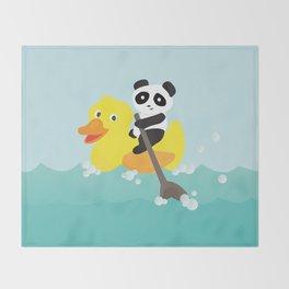 Row, row, row your duck Throw Blanket