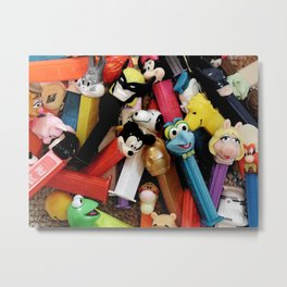 Fun with Pez Metal Print