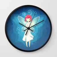tooth Wall Clocks featuring Tooth Fairy by Freeminds
