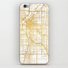 DENVER COLORADO CITY STREET MAP ART iPhone Skin