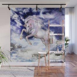 Einhorn in den Wolken Wall Mural