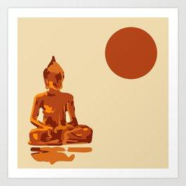 Abstract Budda Print Art Print