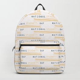 National Spaghetti Day Hand Drawn Backpack