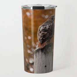 Red Tailed Hawk Fall Travel Mug