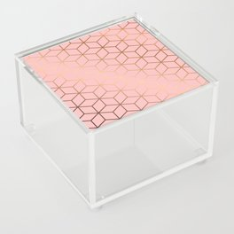 Pink and Gold Geometry 011 Acrylic Box