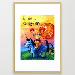 The Candy Warrior Framed Art Print