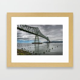 Astoria - Megler Bridge Framed Art Print