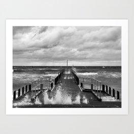 Frankston Pier in a storm Art Print