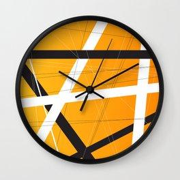 Orange Criss Cross Wall Clock