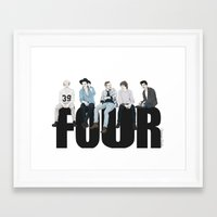 coconutwishes Framed Art Prints featuring Four by Coconut Wishes