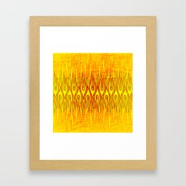 Flame On Abstract Tribal Fire Framed Art Print