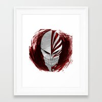 bleach Framed Art Prints featuring Bleach - Hollow by Bradley Bailey