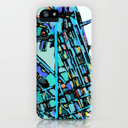 Boston Back Bay Abstract Map iPhone Case
