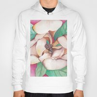magnolia Hoodies featuring Magnolia by Emily Michele Berry