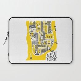 Manhattan New York Map Laptop Sleeve