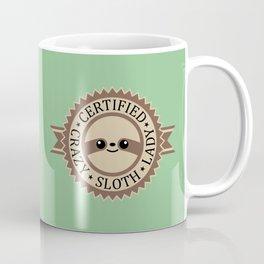 Certified Crazy Sloth Lady Coffee Mug