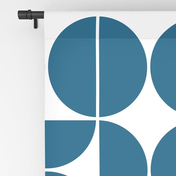Mid Century Modern Geometric 04 Blue Blackout Curtain