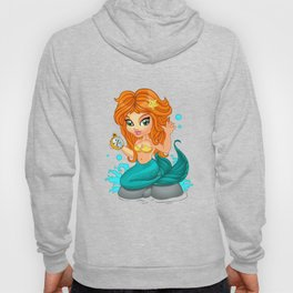A Cute little mermaid and a compass Hoody