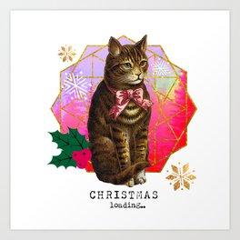 Christmas loading... Art Print