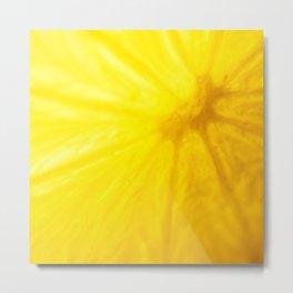 If life gives you lemons learn to make lemonade Metal Print