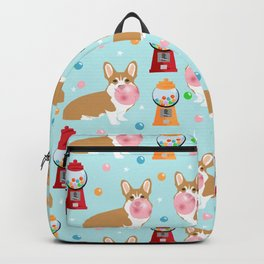 Corgi bubblegum cute pet portrait custom dog breed art pattern by pet friendly Backpack