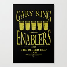 Gary King and the Enablers Canvas Print