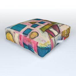 Spring shapes Outdoor Floor Cushion