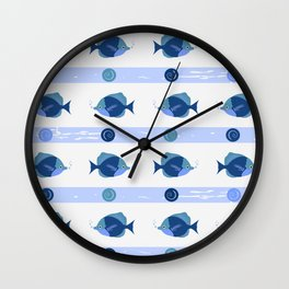 AFE Blue Fish Wall Clock