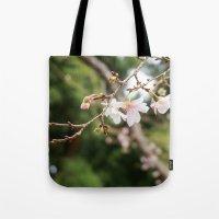 sakura Tote Bags featuring sakura by artsimo