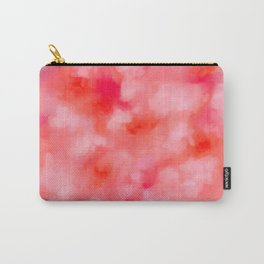 Blush Cream Coral Floral Abstract Carry-All Pouch