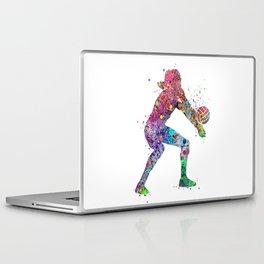 Volleyball Girl Watercolor Print Girls Room Decor Volleyball Poster Girl Volleyball Wall Art Laptop & iPad Skin