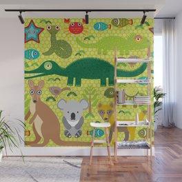 Animals Australia snake, turtle, crocodile, alliagtor, kangaroo, dingo Wall Mural