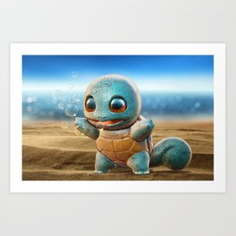 Realistic Squirtle Art Print