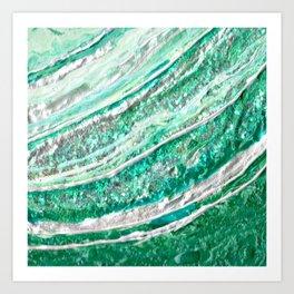 Green Crystal Ⅱ Art Print