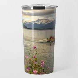 Lake Geneva and Alps, Montreux, Switzerland Travel Mug
