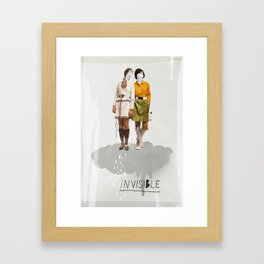 Invisible   Collage Framed Art Print
