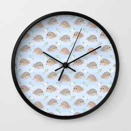 Seal pattern Wall Clock