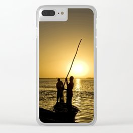 Niger river sunset - Mali, Africa Clear iPhone Case