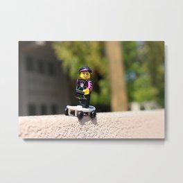 Lego Skater Metal Print