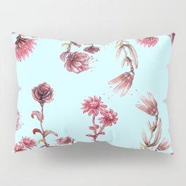 flowers on blue Pillow Sham