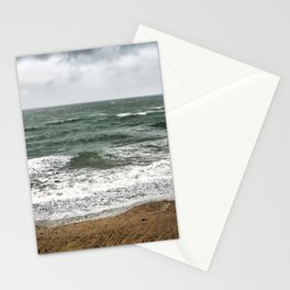 Land and sea under stormy clouds Stationery Cards